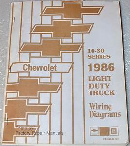 1986 Chevy Truck Suburban Van Wiring Diagrams C10 C20 C30