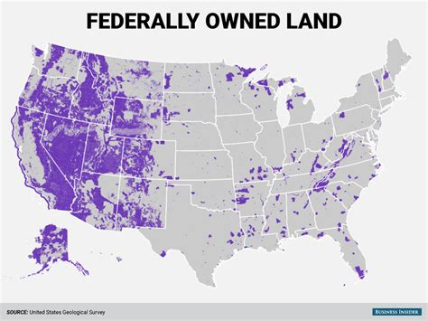 This map shows the huge amount of land the federal ...