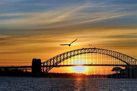 Beautiful Sunset at Sydney Harbour Bridge Australia 4K ...