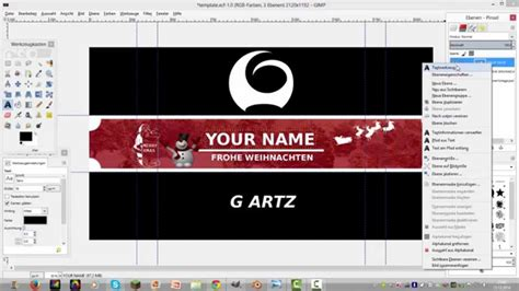 christmas banner template gimp youtube