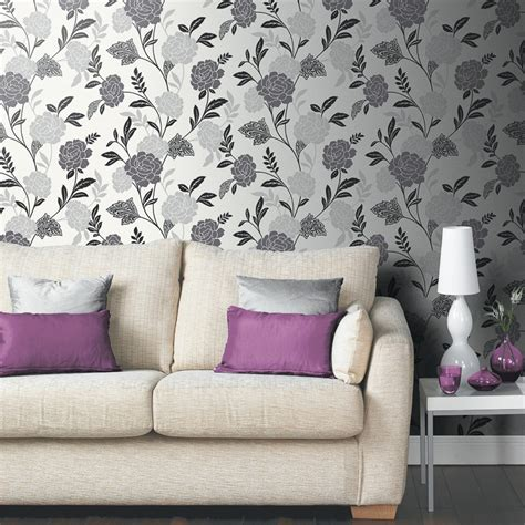 carla motif wallpaper black white diy wallpaper bm