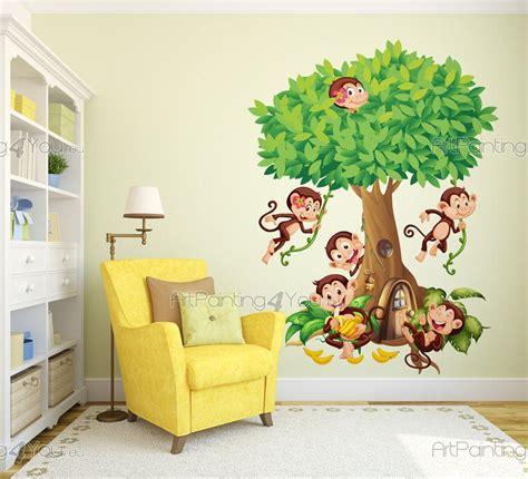 stickers animaux chambre b饕 stickers chambre bebe jungle maison design bahbe com