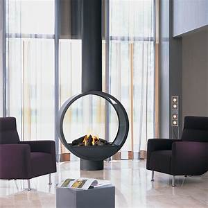 Could, This, Unique, Circular, Fireplace, In, Gas, Or, Wood, Be, The, Piece, To, Complete, Your, Project, Get