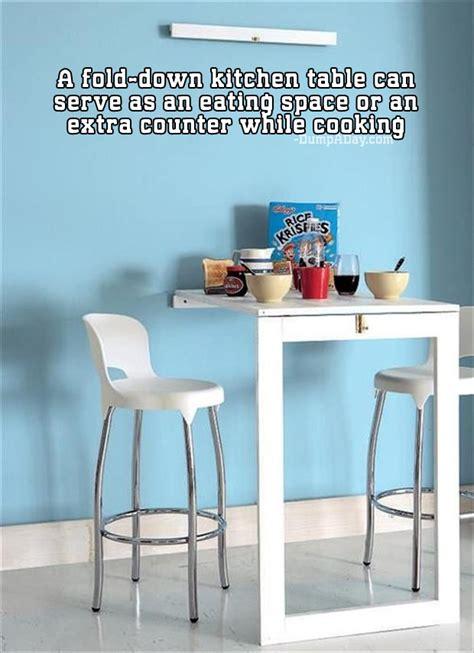 fold down kitchen table simple ideas that are borderline genius 24 pics