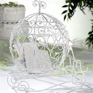 bird wedding cake toppers white wire fairy tale coach gift card holder