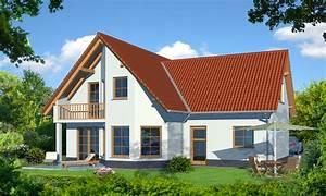 Landhaus mit balkon und garagenanbau richter haus for Balkon teppich mit landhaus tapeten vlies