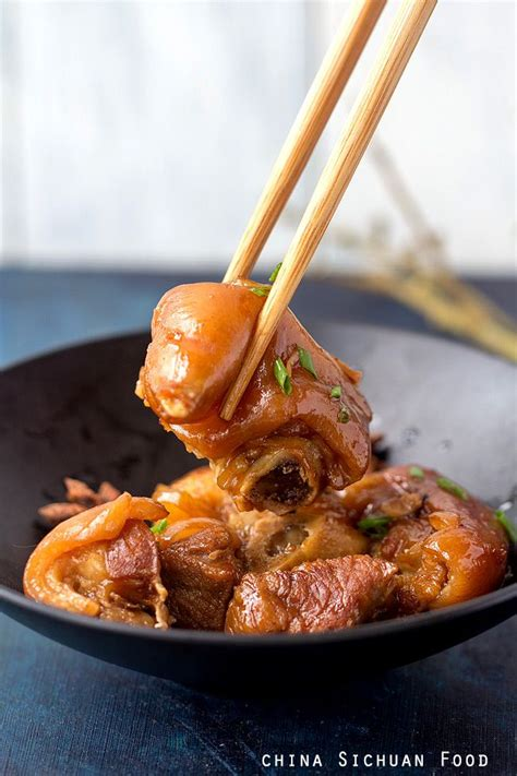 cuisine trotter braised pig trotter recipe china food and pork
