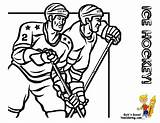 Coloring Hockey Players Sports Winter Olympic Boys Yescoloring Colouring Mascots Freeze Olympics sketch template