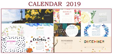 Free 2019 Hd Calendar Wallpapers