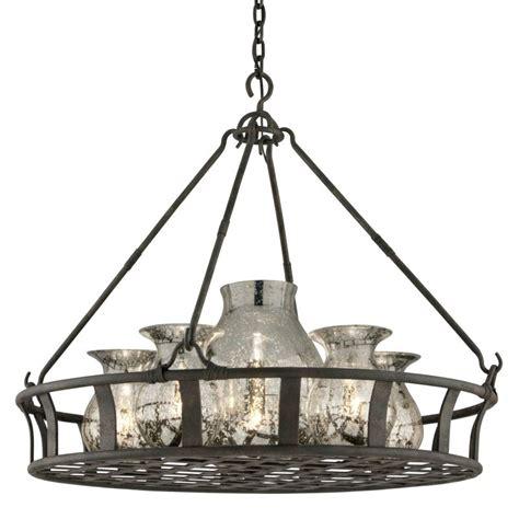 mercury glass chandeliers troy lighting f3598 chianti bronze chianti 6 light mercury