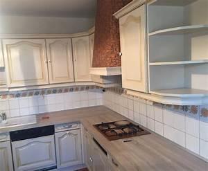 repeindre meuble de cuisine en bois fabulous porte meuble With repeindre un escalier en blanc 12 meuble cuisine bois gris le bois chez vous