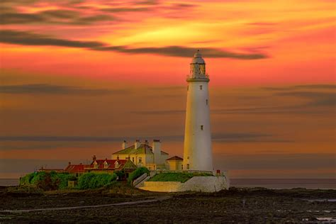 Light House Backgrounds by Lighthouse Sunset Hd Wallpaper Background Image