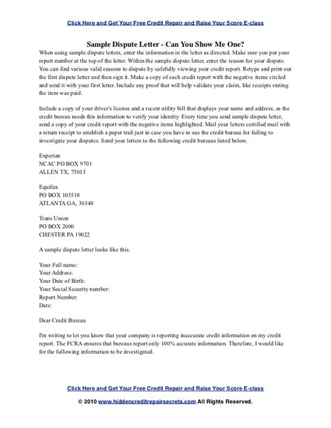 sample letter  credit bureau  remove judgement