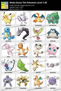 wubu guess pokemon answers pictures
