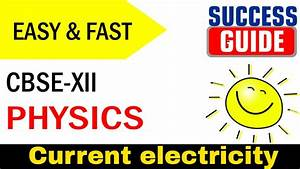 Cbse Xii Physics Current Electricity