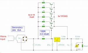 Simple 12v 30a Regulated Power Supply Circuit Diagram