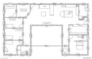 Plan Maison Plain Pied 4 Chambres Avec Suite Parentale by Plan Maison Plain Pied 3 Chambres Gratuit