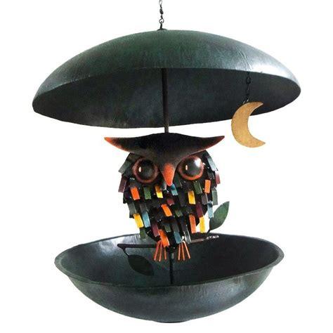 spiky owl  moon bird feeder bird feeders glass