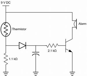 thermal time constant and ntc thermistors a practical study With fire alarm circuit