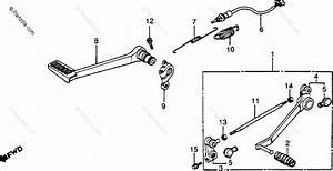 Honda Motorcycle 1984 Oem Parts Diagram For Brake Pedal
