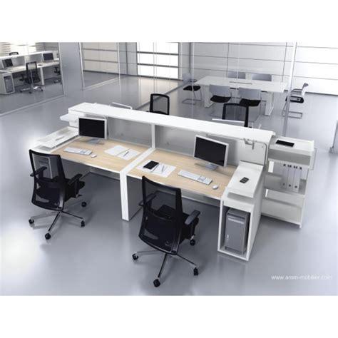 configuration bureau bureau opératif droit logic bois naturel et blanc