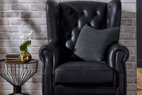 Wiltshire Leather Wing Armchair