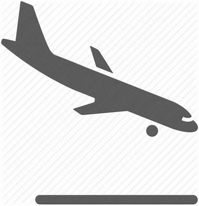 Landing Icon Airplane Descending Plane Flight Airport