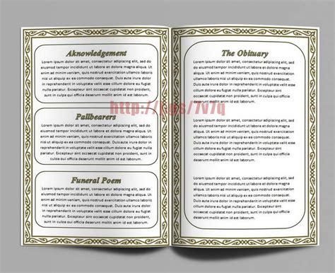 pamphlet order  service funeral memorial pamphlet