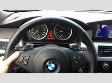BMW E60 5er VFL mit LCI Schaltwippen Lenkrad YouTube