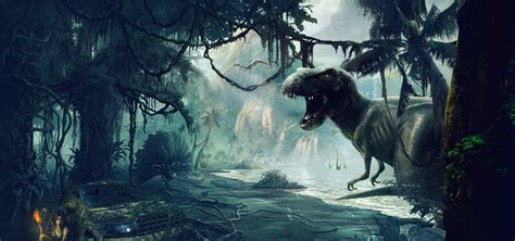 synthesize big dinosaurs   forest dinosaur