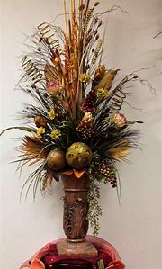 Tall Dried Floral Arrangements