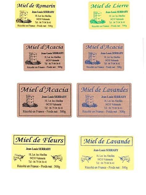 etiquette pour pot de miel etiquettes le miel