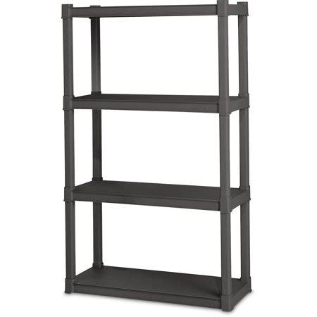 sterilite 4 shelf flat gray sterilite 4 shelf unit flat gray walmart com