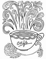 Coloring Coffee Pages Printable Complex Adult Theme Colouring Adults Printables Books Sheets Momsandcrafters Cup Mug Cups Getcolorings Fun Crafts Advanced sketch template