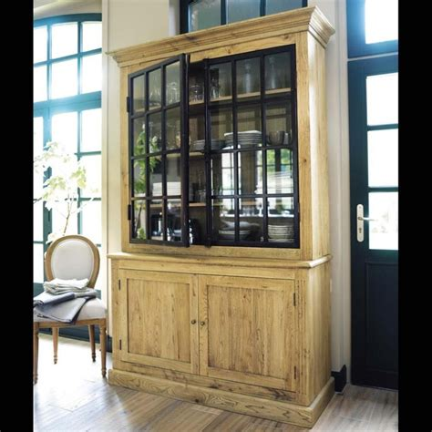 oak cabinet w cremone bolt metal doors furniture case