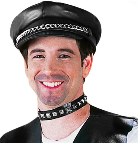 mens gay biker hat village people costumes