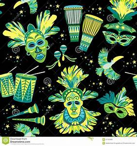 Brazilian Carnival. Vector Colorful Background. Stock ...