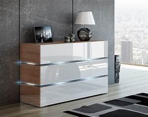 Moderne Tv Möbel : kaufexpert kommode shine sideboard 120 cm wei hochglanz sonoma eiche led beleuchtung modern ~ Orissabook.com Haus und Dekorationen