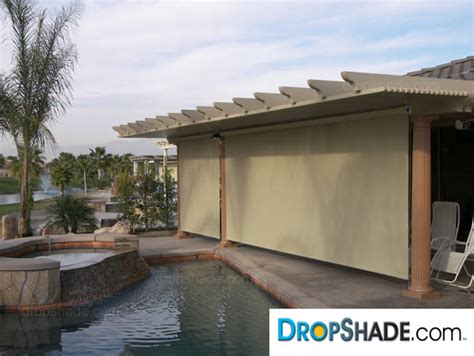 patio drop shades exterior motorized retractable shades