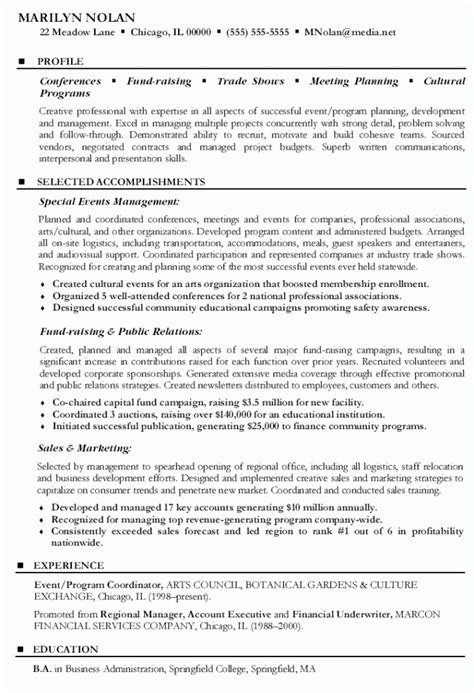 28 event planner assistant resume event planner resume