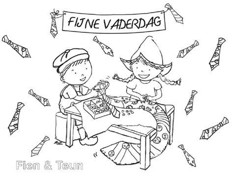 Kleurplaat Boertje En Boerinnetje by Fien Teun Vaderdag Kleurplaat Fien En Teun School