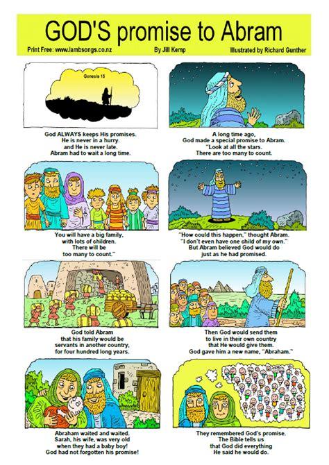 the catholic toolbox free one page printable bible stories 283 | Abrahamonepagestory