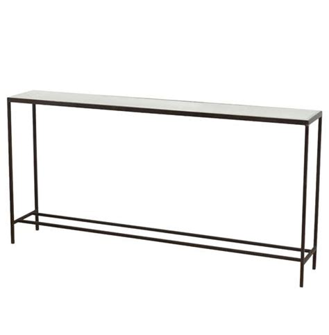 long mirrored console table howard industrial loft mirrored long sofa console table
