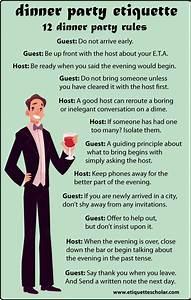 12 Dinner Party Etiquette Rules