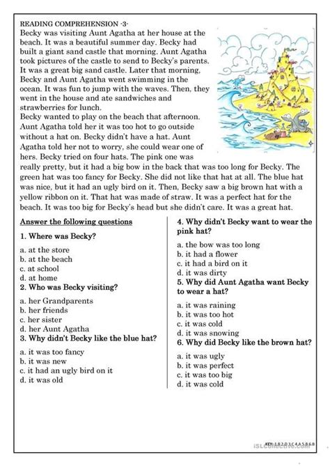 reading comprehension  beginner  elementary students