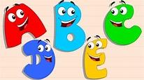 Five Little Alphabets | Original Rhymes By Preschool - YouTube