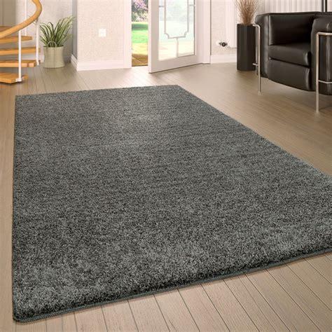 hochflor teppich waschbar einfarbig grau teppichcenter