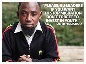 """Stop forced migration, invest in African youth"""