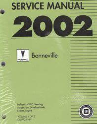 automotive repair manual 1989 pontiac bonneville parental controls 2002 pontiac bonneville factory service manual 2 volume set
