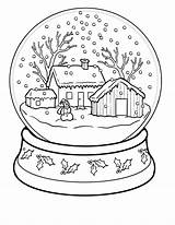 Winter Nature Season Coloring Pages Printable Drawing Drawings sketch template
